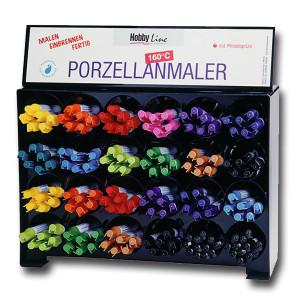 Glasuurialused värvid, pliiatsid ja portselani vildikad