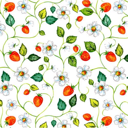 Maasikatega suur leht